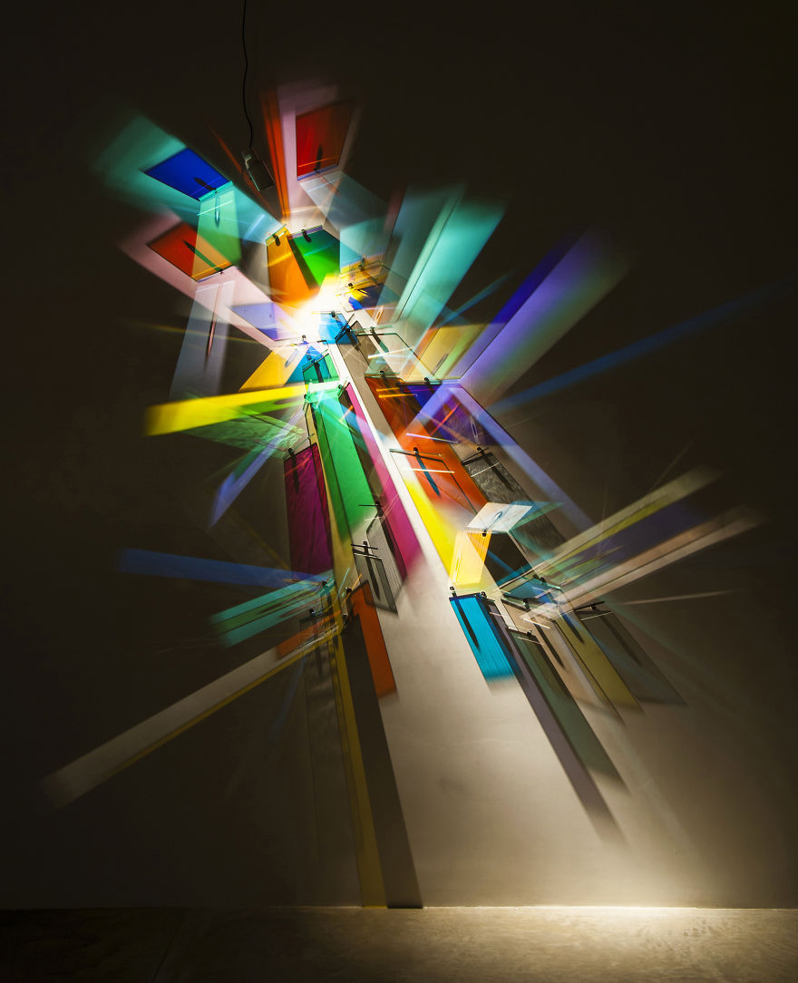 prismatic paintings from lighting by Stephen Knapp_kobi lighting studio 03