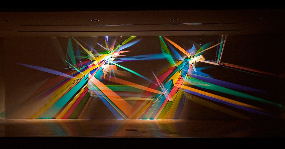 prismatic paintings from lighting by Stephen Knapp_kobi lighting studio 05