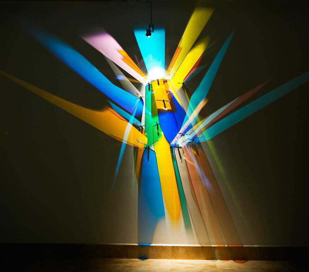 prismatic paintings from lighting by Stephen Knapp_kobi lighting studio 07