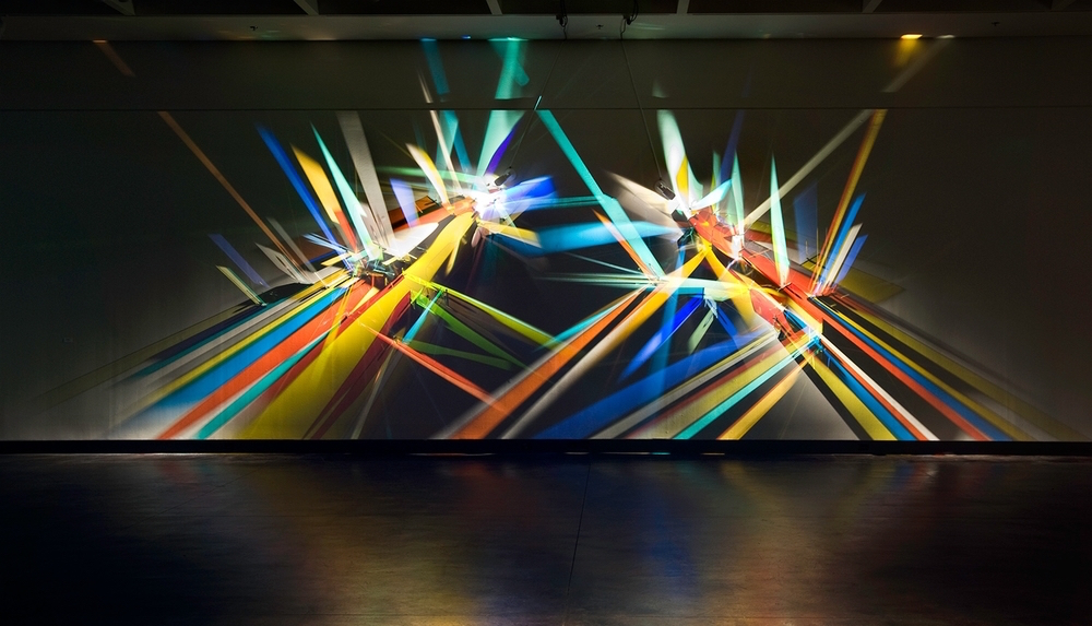 prismatic paintings from lighting by Stephen Knapp_kobi lighting studio